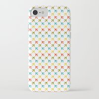 planes iPhone & iPod Cases featuring Colored planes by Yasmina Baggili