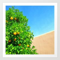 Arizona Oranges and Blue Sky Art Print