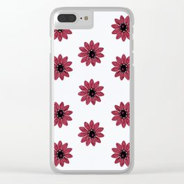 Pink patterns Clear iPhone Case