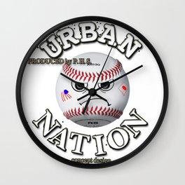 Baseball fun character Wall Clock
