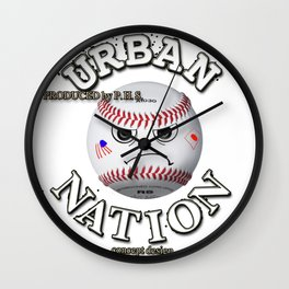 Baseball fun character Wall Clock