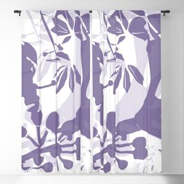 BC lila silhouette Blackout Curtain