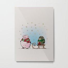 Winter fun Metal Print