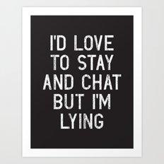 Chat Art Print