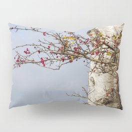 Rosehips, Birch And Sky Pillow Sham