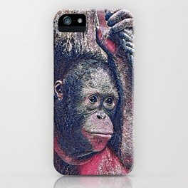 GlitzyAnimal_OrangUtan_002_by_JAMColors iPhone Case