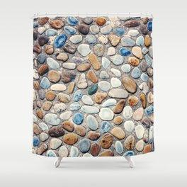 Pebble Rock Flooring V Shower Curtain
