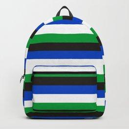 Torres Strait Islander flag stripes Backpack