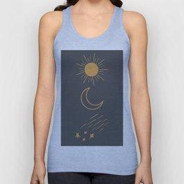 Sun, Moon and Stars Unisex Tank Top