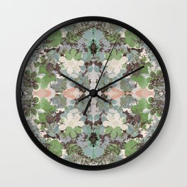 Abstract Floral Garden Wall Clock