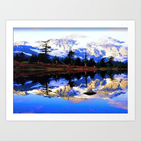 Glacier Mountains Art Print