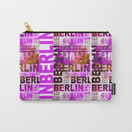 Berlin pop art typography illustration Carry-All Pouch