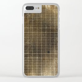 Copper Grid Clear iPhone Case