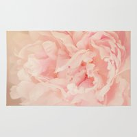 blush Area & Throw Rugs featuring BLUSH by Jenny Ardell