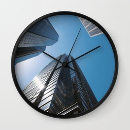 Looking up to the buildings Wall Clock