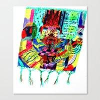 rug Canvas Prints featuring rug by liisa kruusmägi