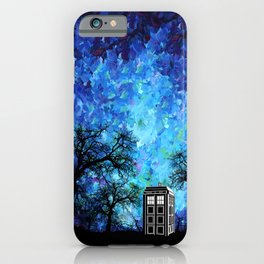 Lonely Tardis Doctor who Art painting iPhone 4 4s 5 5c 6, pillow case, mugs and tshirt iPhone Case