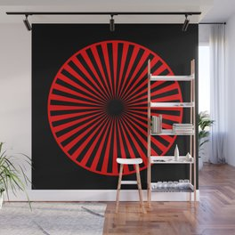 black and red Wall Mural