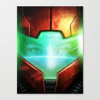 metroid Canvas Prints featuring Metroid by Joe Roberts
