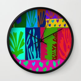 Matisse Collage Wall Clock
