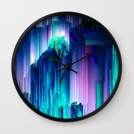 Glitches Be Trippin' - Abstract Pixel Art Wall Clock