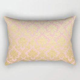 Princess like - Luxury pink gold ornamental damask pattern Rectangular Pillow