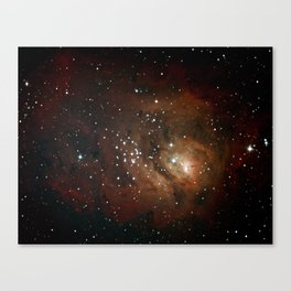 The Lagoon Nebula Through my 8-inch Telescope Canvas Print