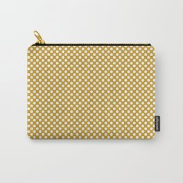 Nugget Gold and White Polka Dots Carry-All Pouch