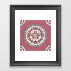 Mandala Paisley - Love Framed Art Print