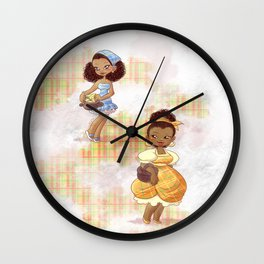Caribbean Girls Wall Clock