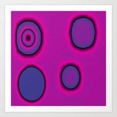 pink and purple circles abstract Art Print