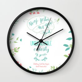 Unquenchable Curiosity Wall Clock