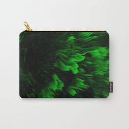 Abstract Pattern Holographic Iridescent Liquid Oil Waves Glitch Green Carry-All Pouch