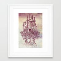 trees Framed Art Prints featuring Castle in the Trees by Rachel Caldwell