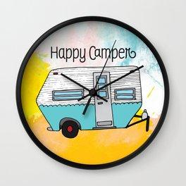 Happy Camper [color] Wall Clock