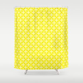 Trellis_Yellow Shower Curtain