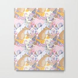 Fancy Rat Pattern Metal Print