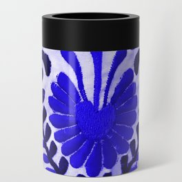 Beautiful Midnight Blue Mexican Flower Can Cooler