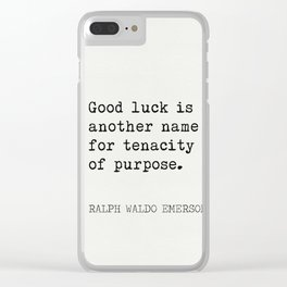 RALPH WALDO EMERSON best quotes 5 Clear iPhone Case