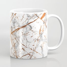 Marble Texture and Gold Splatter 039 Coffee Mug