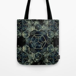 Sacred Geometry for your daily life -  Platonic Solids - ETHER Tote Bag