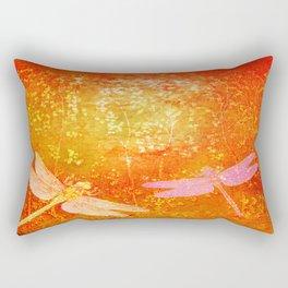 Dragonflies the forgotten clearing Rectangular Pillow