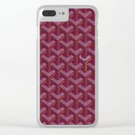 Goyard Purple Clear iPhone Case