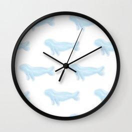 Pretty Watercolor Seals Wall Clock