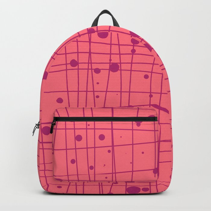 Woven Web pink Backpack