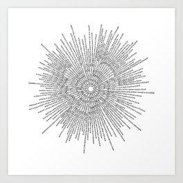 Bridging on White Background Art Print
