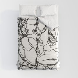 Boys kiss too Comforters