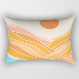 Adventure On The Horizon / Abstract Landscape Rectangular Pillow