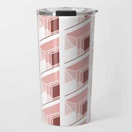 Architectural geometric print - Balconies Travel Mug