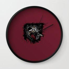 Scary Night Wolf Wall Clock